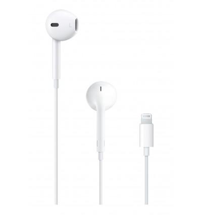 Apple auriculares de botón - eearpods con conector lightning para iphone / ipad