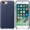 Apple iphone 7 plus funda cuero (azul marino)