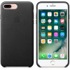 Apple iphone 7 plus funda cuero (negro)