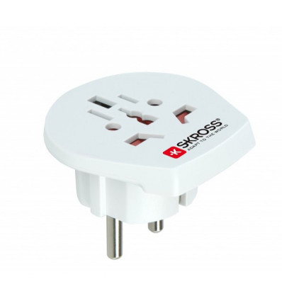 Skross 1,500211 world to eu single travel plug