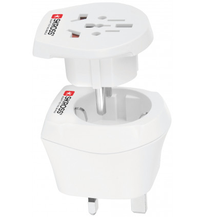 Skross 1 500231 combo world to uk travel adapters