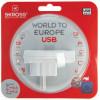 Skross world to europe usb plug adapter